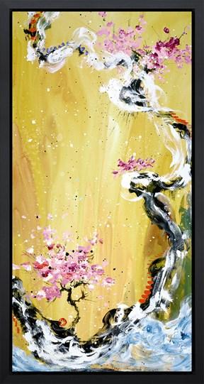 Trilogy Of Wonder I by Danielle O'Connor Akiyama - Framed Limited Edition Glazed Box Canvas