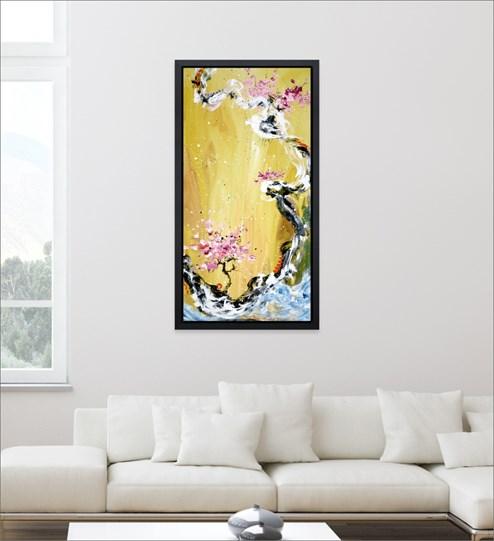 Trilogy Of Wonder I by Danielle O'Connor Akiyama - Limited Edition Glazed Box Canvas wall setting