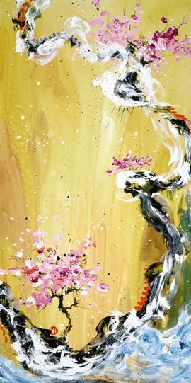 Trilogy Of Wonder I by Danielle O'Connor Akiyama - Limited Edition Glazed Box Canvas